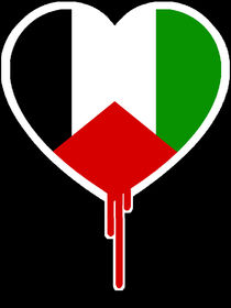 PALESTINE BLEEDING HEART by solsketches