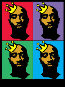 HIP-HOP ICONS: TUPAC SHAKUR (4-COLOR) von solsketches