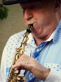 Christopher Mason Alto Sax Player by Lainie Wrightson