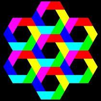 July 21 2012 colorful hexagons by Chandler Klebs