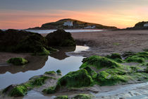 Bigbury-on-Sea and Burgh Island at Sunset by Louise Heusinkveld