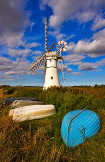 Thurne Dyke Windpump, Norfolk von Louise Heusinkveld