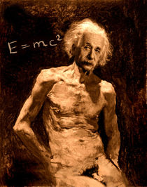 Einstein relatively nude by Karine PERCHERON DANIELS