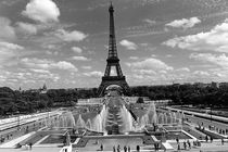 BW France Paris Fontain Chaillot Tour Eiffel 1970s by blackwhitephotos