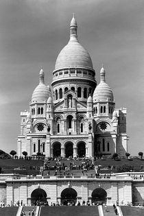 BW France Paris The Sacre Coeur Basilica 1970s by blackwhitephotos