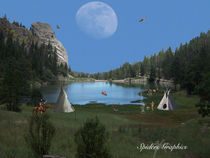 Indian Camp by Dennis Waybrant