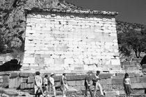 BW Greece Delphi Athenian Treasury 1970s by blackwhitephotos