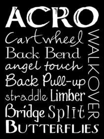 Acro Dance Subway Art Poster von friedmangallery