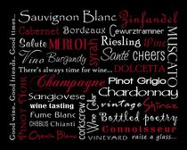 Wine Theme Poster by friedmangallery