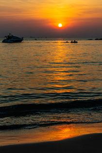 Bamboo beach Sunset 2 by Kristiina  Hillerström