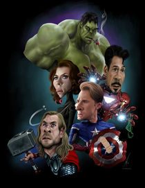 Some Avengers by Alex Gallego