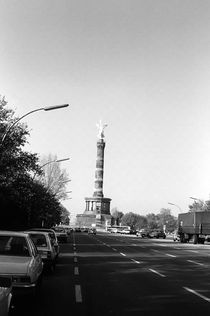 BW Germany Berlin 17th June Street Victory statue 1970s by blackwhitephotos