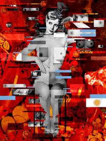 EVA PERON Nude en rouge by Karine PERCHERON DANIELS