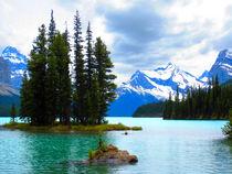Maligne Lake mit Spirit Island von Marita Zacharias