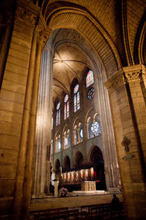 Notre Dame interior by Daniel Zrno