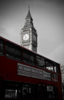 BW Big Ben and red London Bus by RicardMN Photography