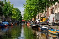 Amsterdam Canal Scene von Louise Heusinkveld