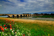 Medieval bridge over the Loire River at Beaugency, France by Louise Heusinkveld
