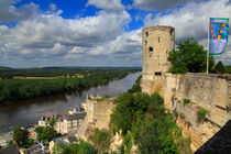 Tour du Moulin and the Loire River, Chinon, France von Louise Heusinkveld