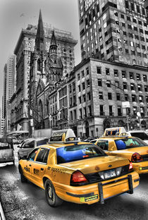 Yellow Cabs Outside Tiffanys by Simon Gladwin