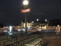 Paris la nuit - Metro von Jennifer Jones