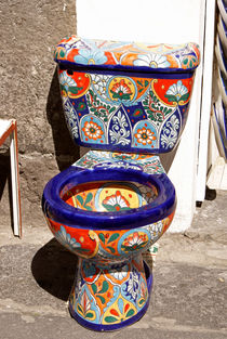 COLOURFUL MEXICAN TOILET von John Mitchell