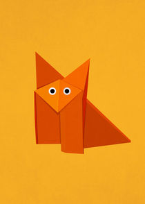 Cute Origami Fox Yellow von Boriana Giormova