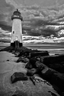 Talacre lighthouse in bw by Mark Bunning