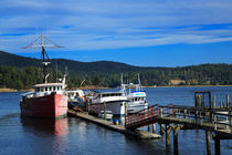 Fishing boats in Sooke Harbour von Louise Heusinkveld