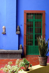 THE BLUE HOUSE Mexico City von John Mitchell