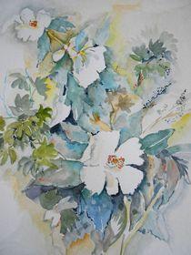Weiße Blüten von Maria Földy