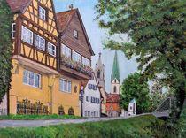 Kirchgasse Rottenburg von Elisabeth Maier