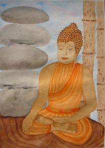 Gautama Buddha im Moment der Erleuchtung von Ulrike Kröll