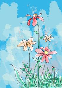 Flowers im Wolkenrausch by Verena Münstermann