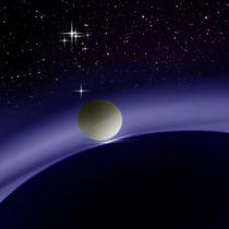 At night in orbit. von Bernd Vagt