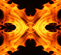 Abstract butterfly fire by Linda More