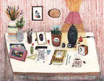 Still Life II - Desk von Angela Dalinger