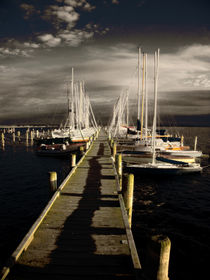Blick über den Yachtsteg by florin