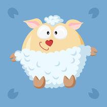 Kugelbild Schaf von Michaela Heimlich