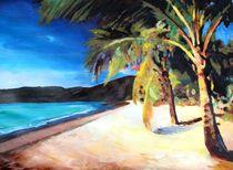 Karibischer Palmenstrand Magens Bay by M.  Bleichner