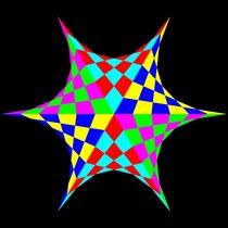 September 14 2012 colored chessboard hexastar by Chandler Klebs