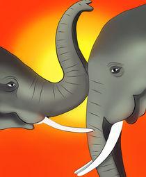 Elefantenbabys von Ingrid Clement-Grimmer
