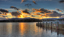 Ambleside Pier at Sunset by Roger Green