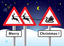 Traffic signs Merry Christmas! von Maarten Rijnen
