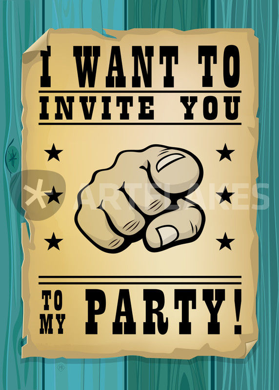 I want to invite you to my party GraphicIllustration art prints – Invite to a Party