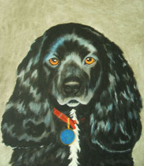 Black Cocker Spaniel by Brandy House